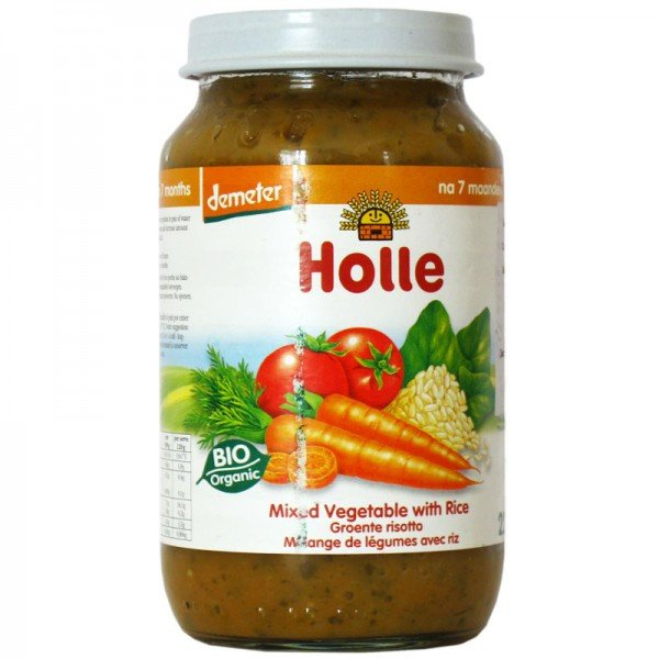 Био пюре зеленчуков микс с ориз 220 гр.